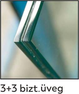 dekorfóliás beltéri ajtó - üveg 12