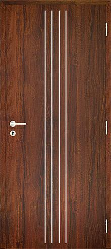 dekorfóliás beltéri ajtó - alu intarz 10