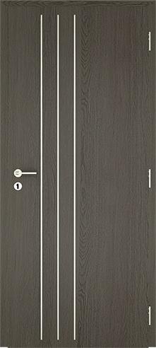 dekorfóliás beltéri ajtó - alu intarz 2