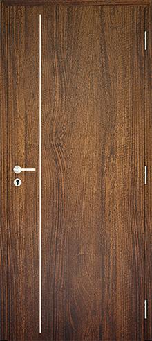 dekorfóliás beltéri ajtó - alu intarz 3
