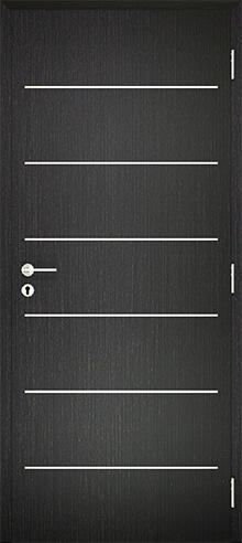 dekorfóliás beltéri ajtó - alu intarz 4