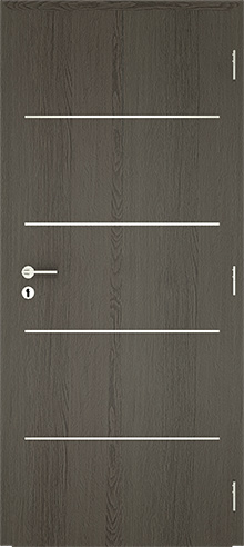 dekorfóliás beltéri ajtó - alu intarz 5
