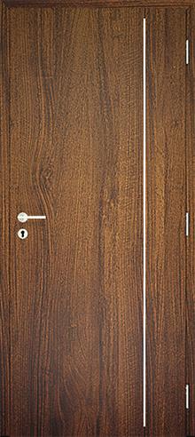 dekorfóliás beltéri ajtó - alu intarz 6