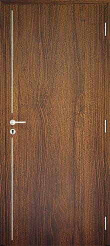 dekorfóliás beltéri ajtó - alu intarz 7
