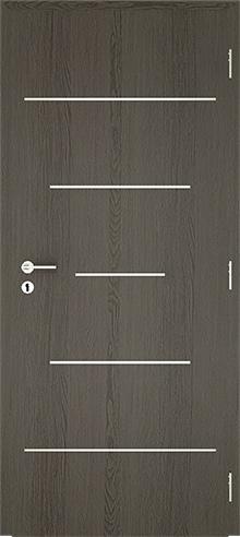 dekorfóliás beltéri ajtó - alu intarz 8