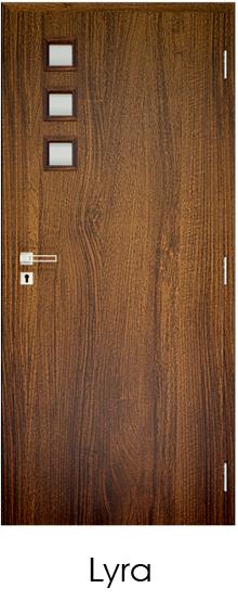 dekorfóliás beltéri ajtó - üvegezés 12