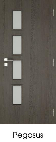 dekorfóliás beltéri ajtó - üvegezés 14