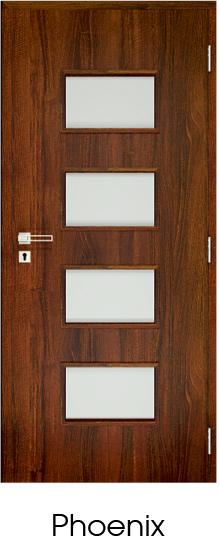 dekorfóliás beltéri ajtó - üvegezés 15