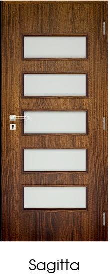 dekorfóliás beltéri ajtó - üvegezés 16
