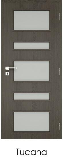 dekorfóliás beltéri ajtó - üvegezés 18