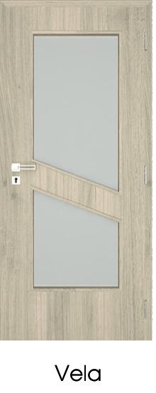 dekorfóliás beltéri ajtó - üvegezés 19