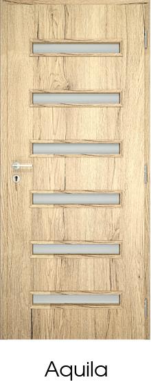 dekorfóliás beltéri ajtó - üvegezés 2