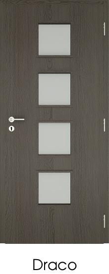 dekorfóliás beltéri ajtó - üvegezés 6